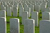 Tyne Cote memorial headstones
