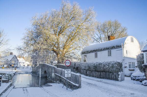 Bridge over Daren't snow Eynsford Kent