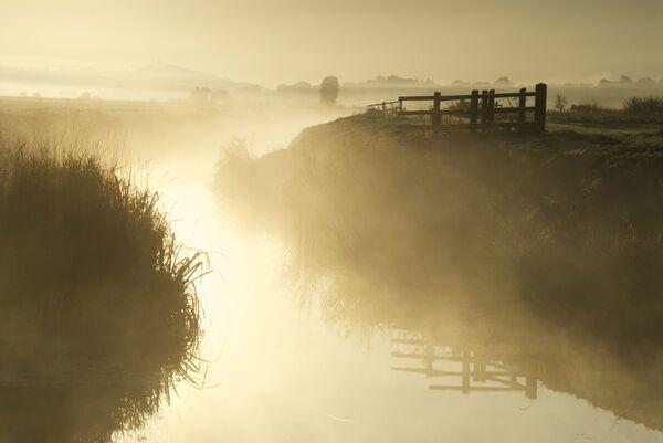 River Blue mists Somerset