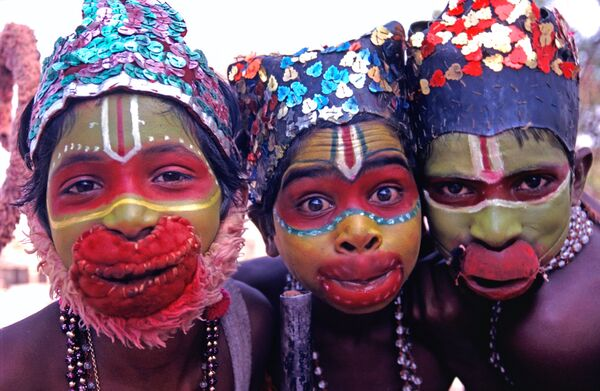 Monkey boys Hampi India