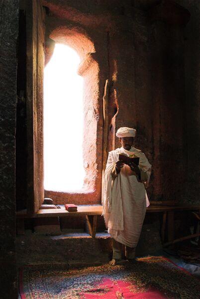 priest at prayer Ethiopia