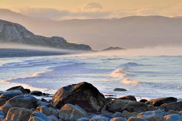 Sea Mist and Boulders