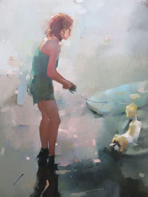 Boogy, oil on canvas 86 x 61cm