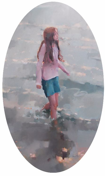 Evening Tide, oil on canvas 122 x 74cm