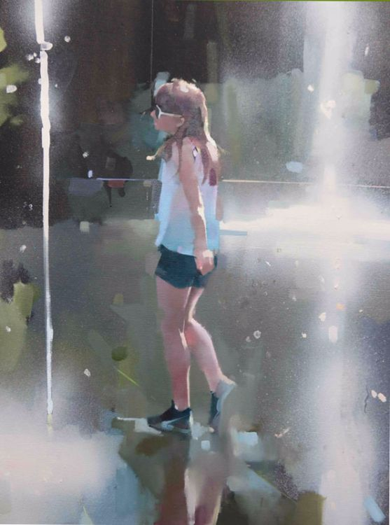 Fountains Nice, oil on canvas 86 x 61cm