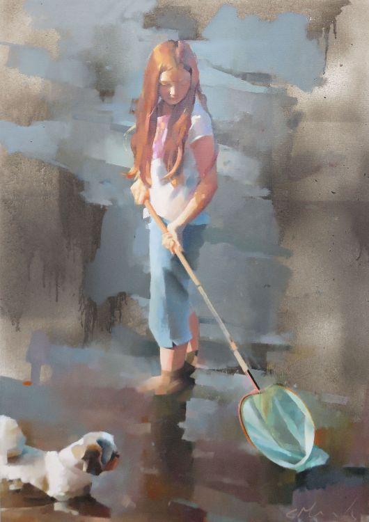 Minnows, oil on canvas 86 x 61cm