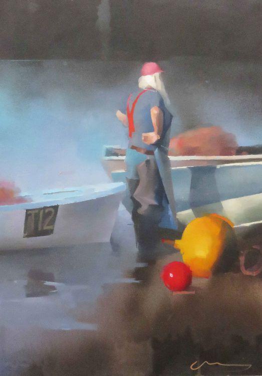 River Man, oil on canvas 86 x 61cm