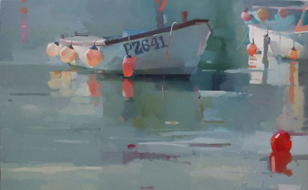 St Ives Harbour, oil on canvas 76 x 122cm.  Unavailable.