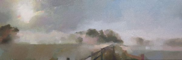 Sunrise, oil on canvas 40 x 122cm
