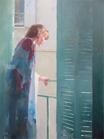 The Window Nice, oil on canvas 86 x 66cm