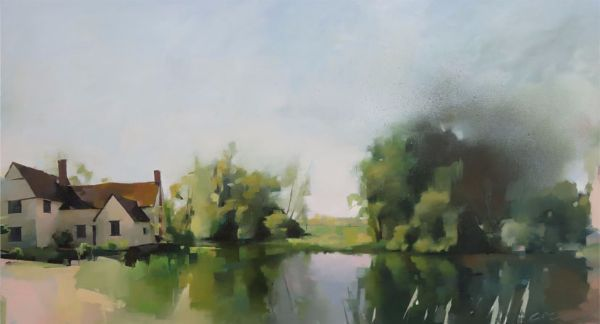 Willie Lotts House or a famous pond, oil on canvas 86 x 116cm