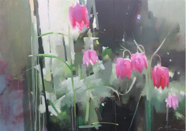 Snakes, oil on canvas 76 x 122cm
