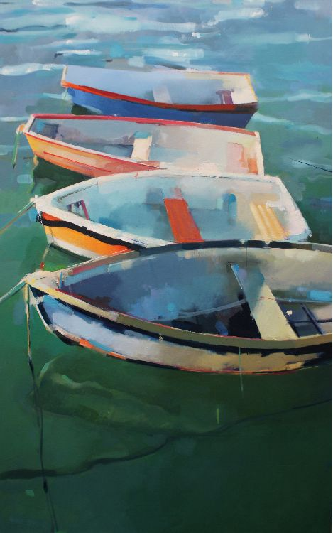 yes Boats, oil on canvas 76 x 122cm.  Unavailable.