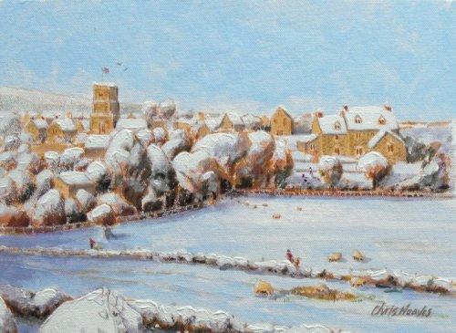 Snow over Abbotsbury