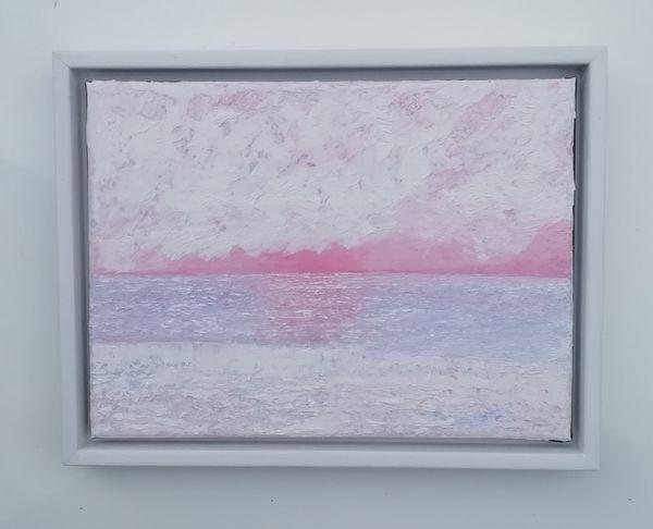 Aldeburgh Suffolk pink Sea And Sky