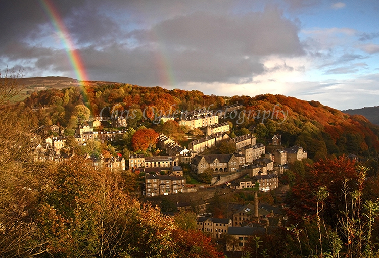 Rainbow Over Hebden Bridge