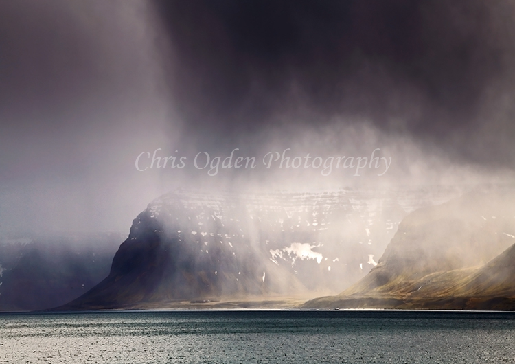 Dark Skies Over Arnarfjorour Fjord #3