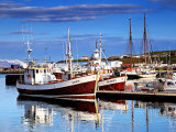 Reflections in Husavik Harbour #1