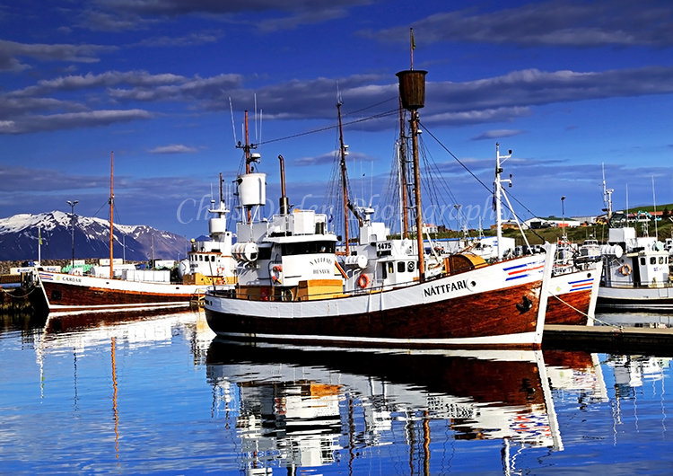 Reflections in Husavik Harbour #2