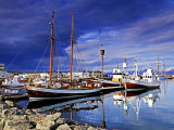 Reflections in Husavik Harbour #4