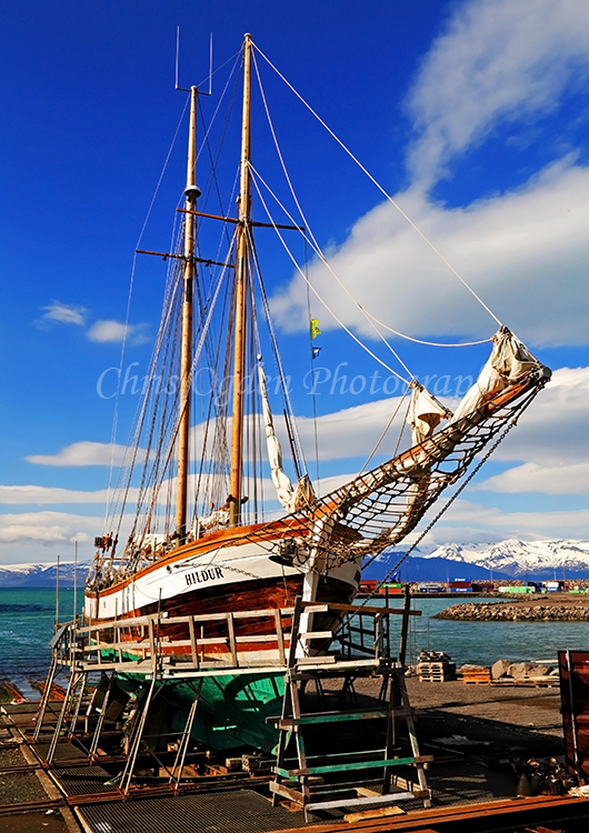 Tall Ship in Husavik Harbour