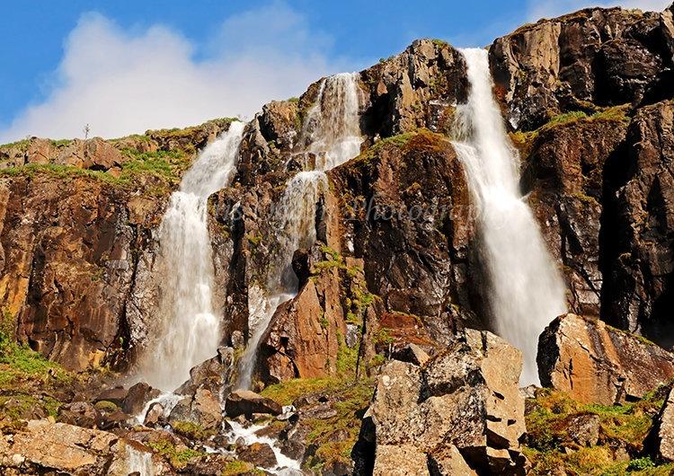 Waterfall at Seydisfjordur