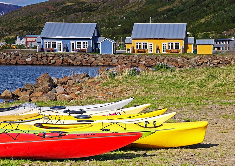 Canoes at Seydisfjordur