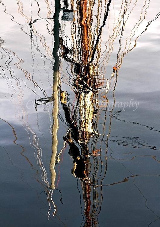 Tall Ship Rigging Reflection
