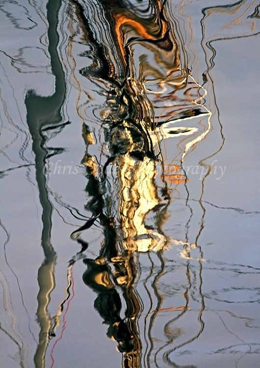 Tall Ship Rigging Reflection #3