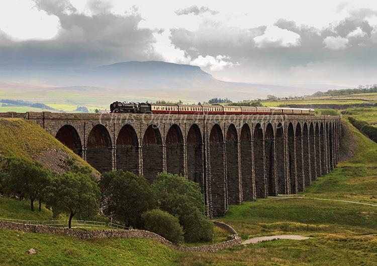 Britannia on the Ribblehead Viaduct #1
