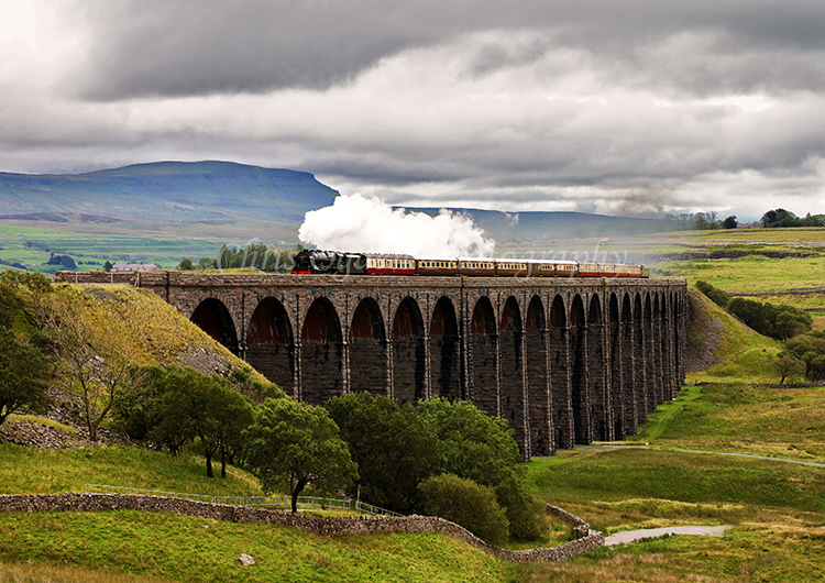 Royal Scot on the Ribblehead Viaduct #1