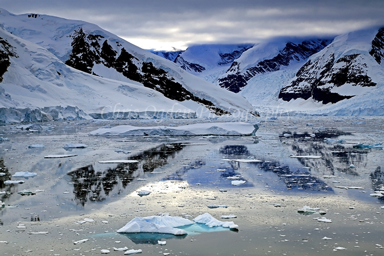 Antarctic Mountain Reflection