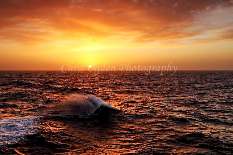 Sunset over Drake's Passage