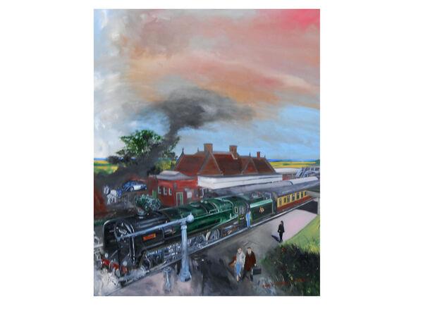 'A scene at Weybourne'
