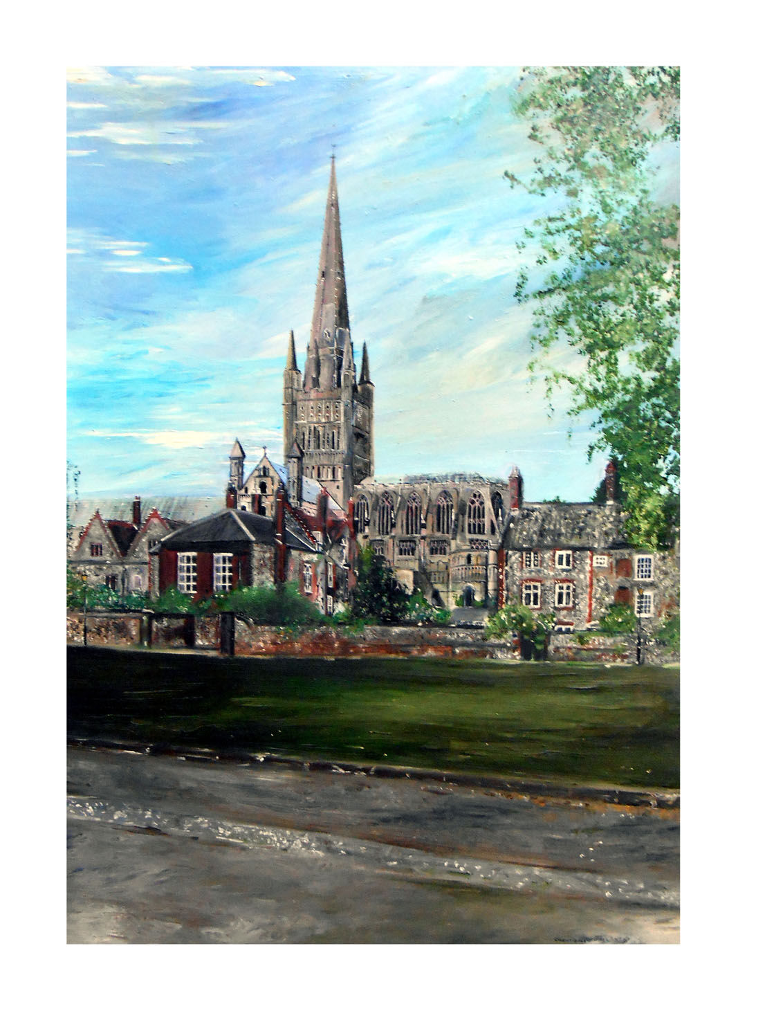 'Painting Norwich Cathedral'