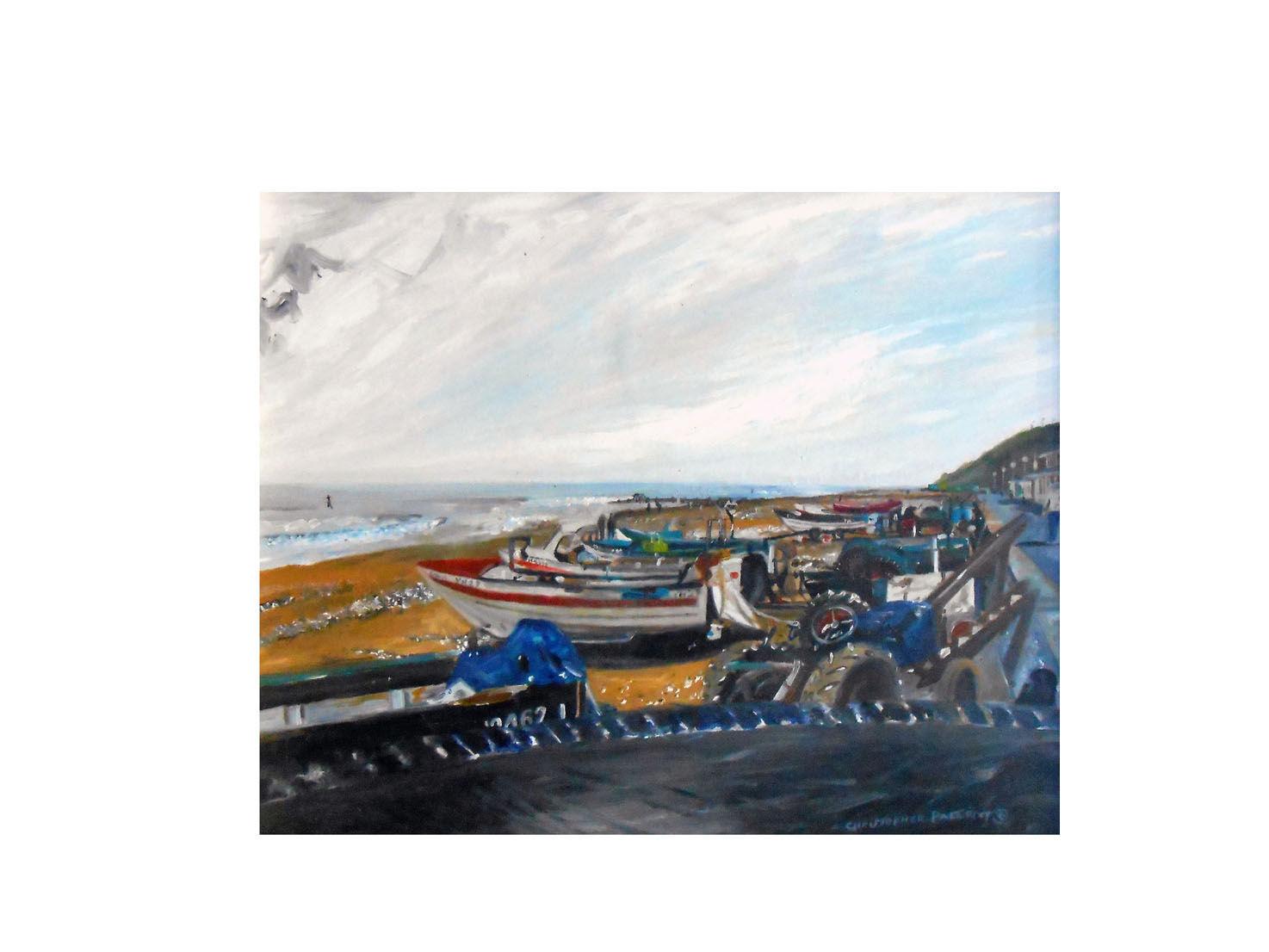'Cromer coast' Oil on wood
