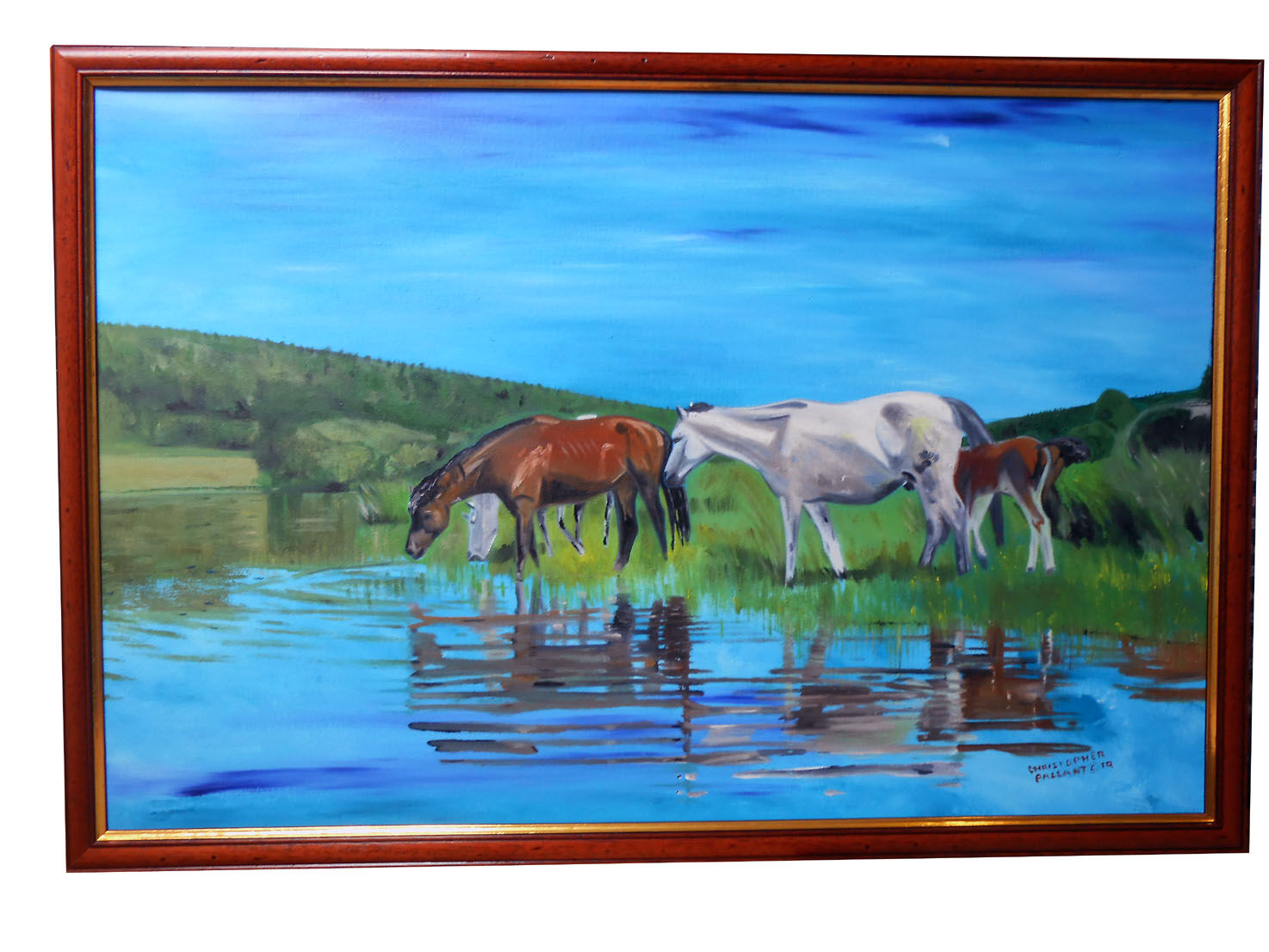 'You can lead a horse to water'......... Oil on canvas