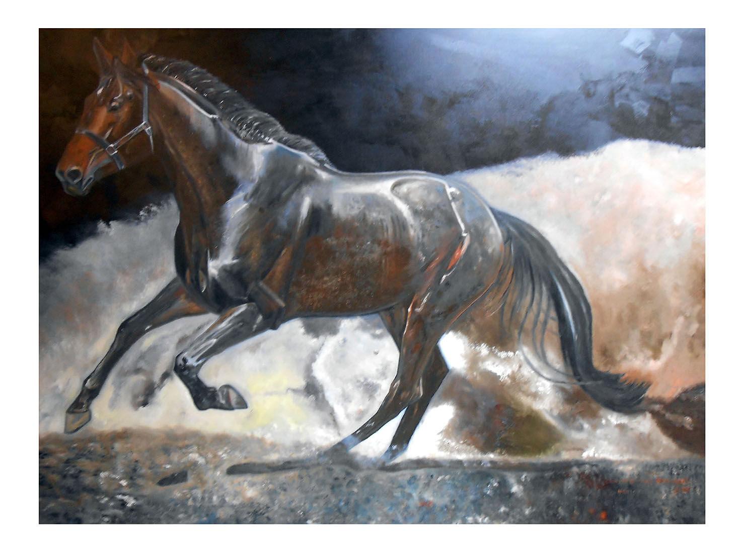 'Horsepower' Oil on linen canvas