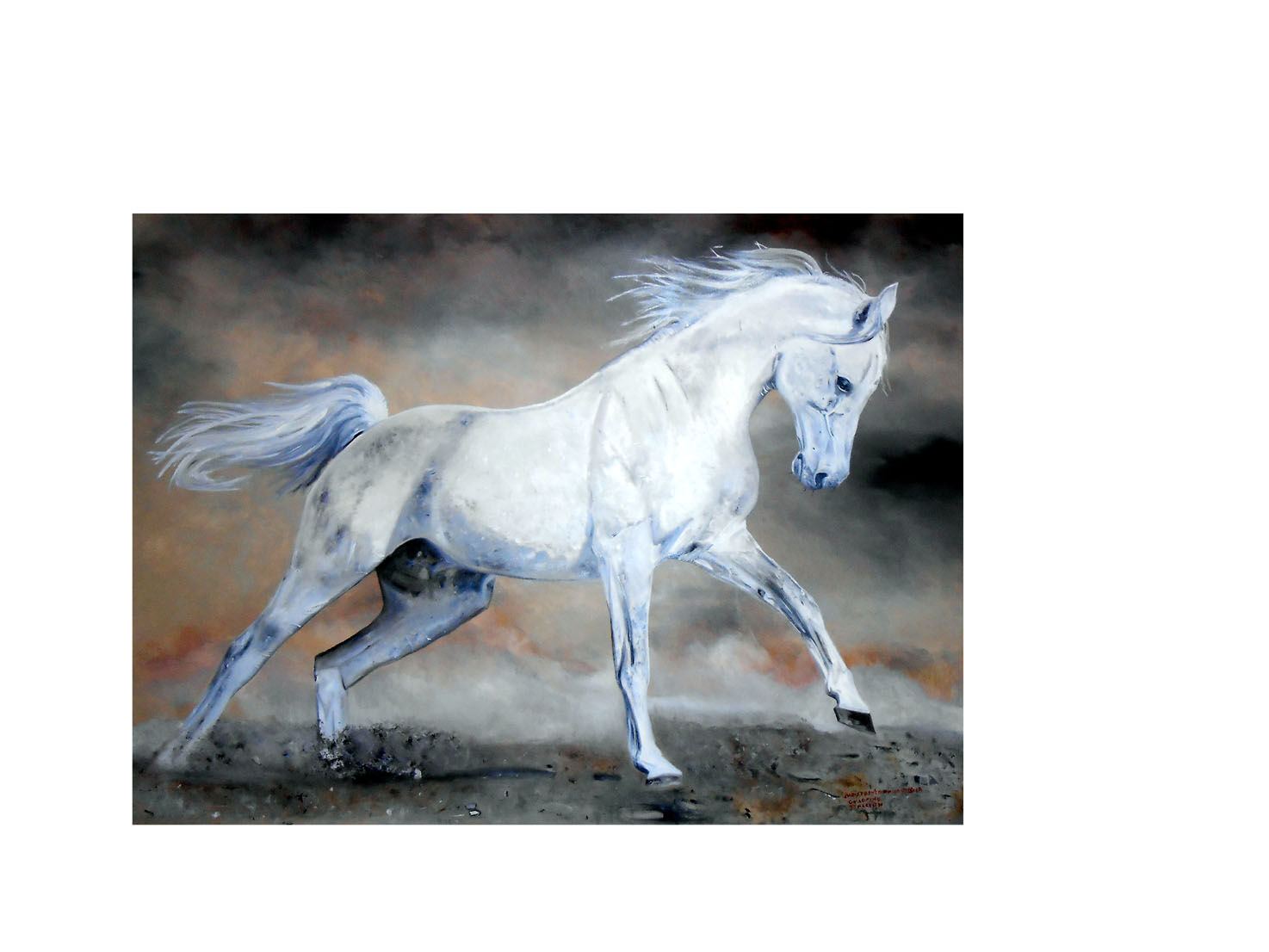 'Galloping Stallion print'