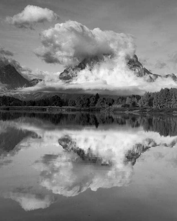 Mount Moran in Cloud 2