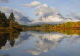 Mount Moran in Cloud