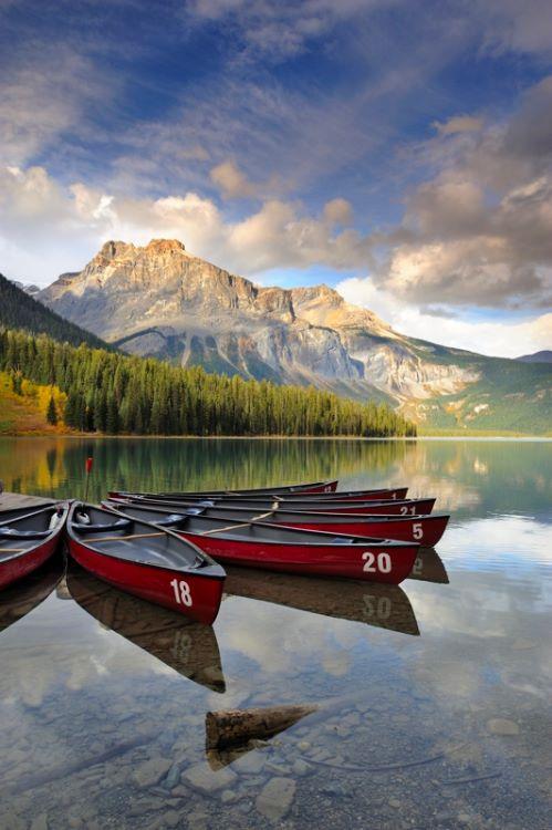Boats at Emerald Lake
