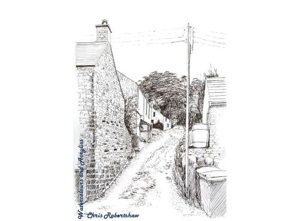 A Narrow Lane in Taddington, Derbyshire