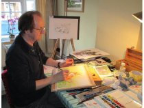 Chris at work in his studio