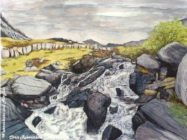 Idwal Waterfall, Snowdonia