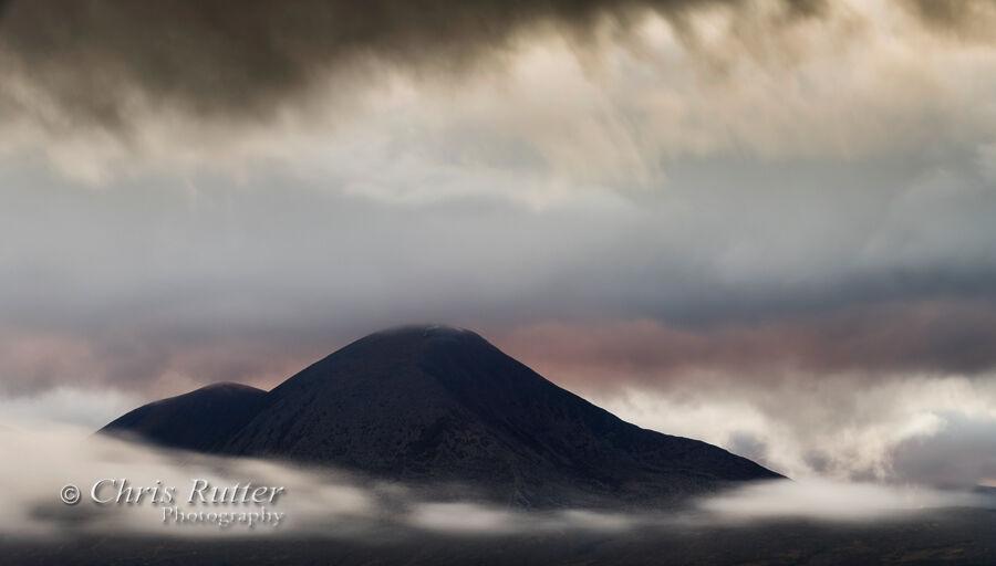Beinn na Caillich clouds sunset