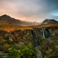 Eas Mor waterfall Skye