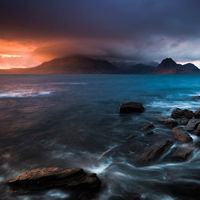 Elgol sunset storm