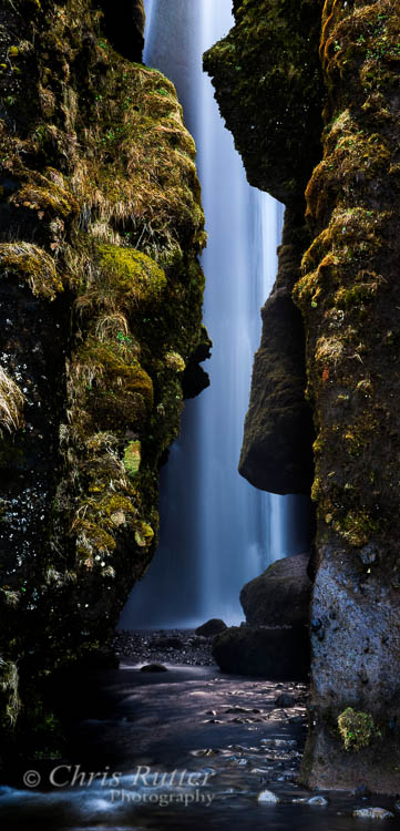 Gljúfrabúi hidden waterfall