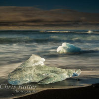 Jökulsárlón ice beach sunrise